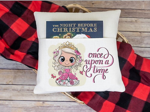 Once upon a time pocket pillow cover