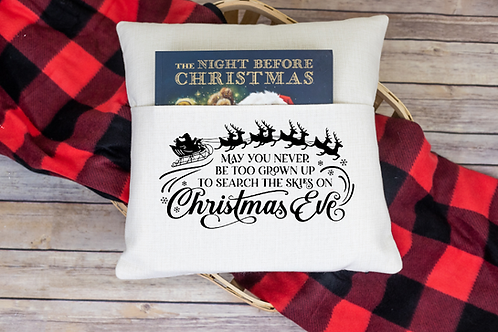 May you never be too grown up pocket pillow cover