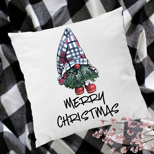 Christmas Tree Gnome Pillow Cover