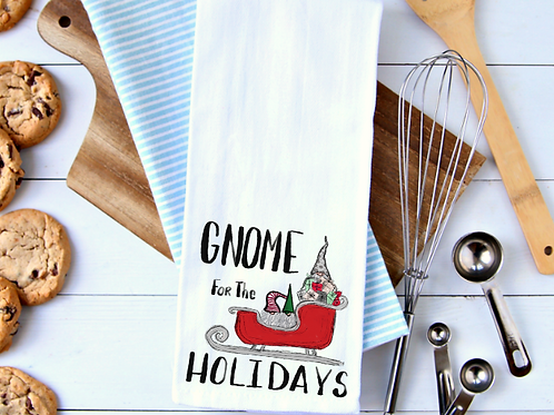 Gnome for the Holidays Towel