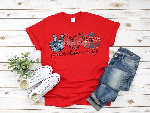 Peace Love Safe (Navy)