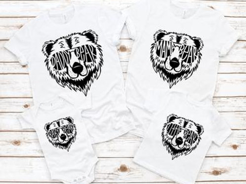 Family Bear Shirts (PLEASE SEE NOTE ATTACHED TO ORDER)