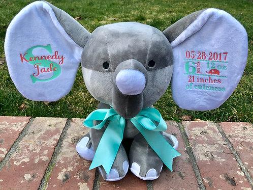 Birth Announcement Elephants (12x13)