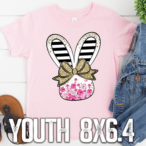 Girl Bunny Glitter Bow (youth)
