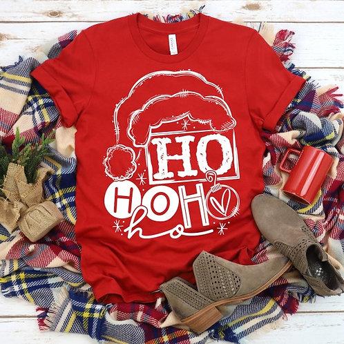 Ho Ho Ho with Santa hat