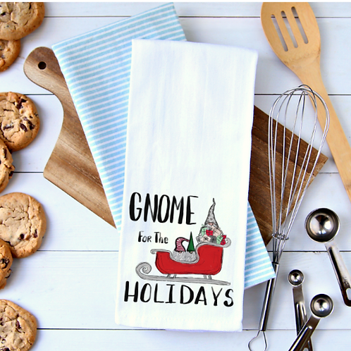 Gnomes for the Holidays Towel