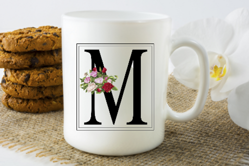 Rose Initial Coffee Cup