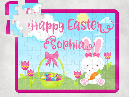 Happy Easter Pink Puzzle