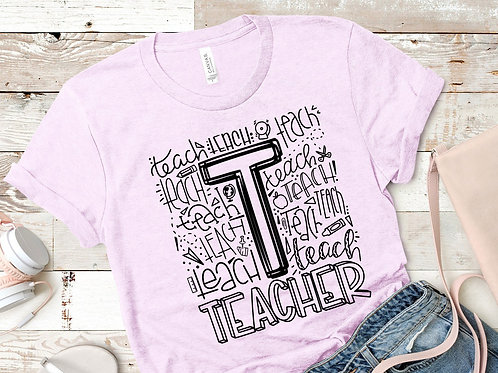 """""""T"""" Teacher Word Art"""