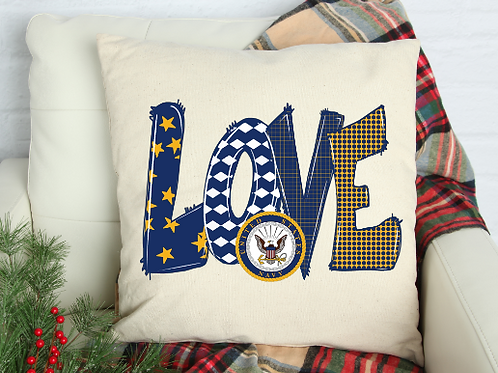 Love Navy Pillow Cover