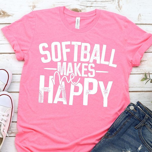 Softball Makes Me Happy