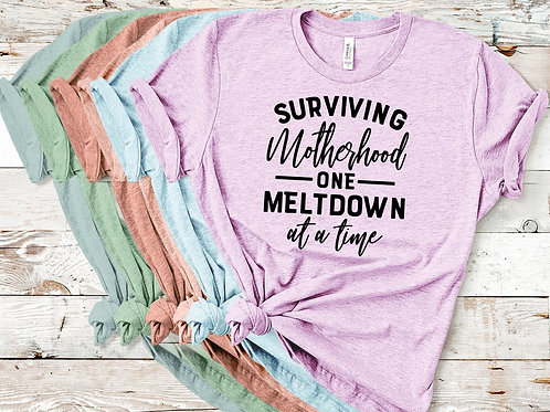 Surviving motherhood one meltdown at a time (WHITE INK)