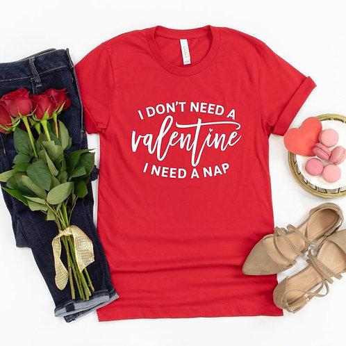 I don't need a Valentine I need a nap