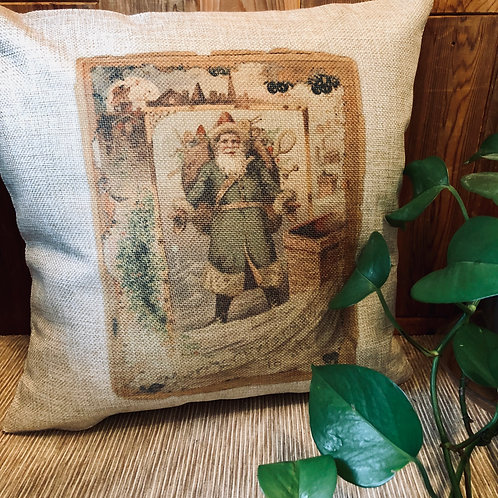 Old Fashion Santa Pillow Cover