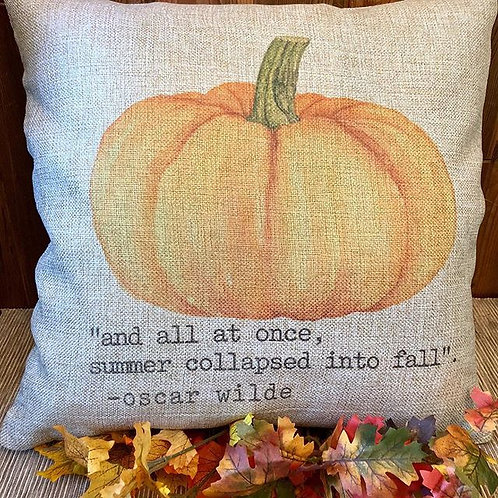 Pumpkin Pillow Cover