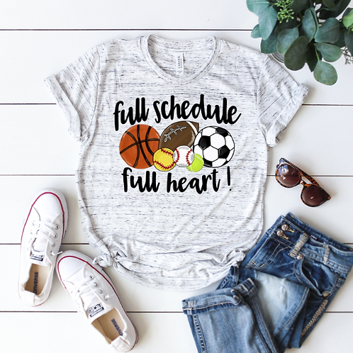 Full schedule, full heart (sublimation)