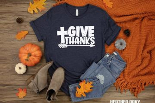 Give thanks (with cross and arrow)