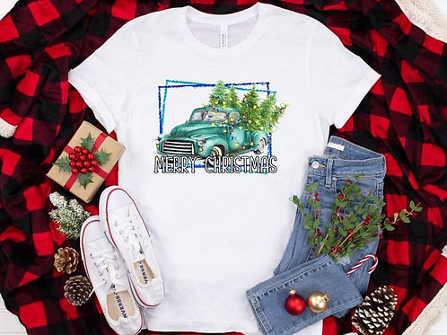 Merry Christmas (teal truck)