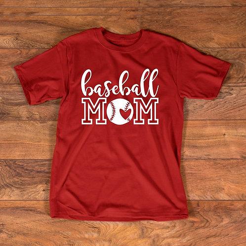 Baseball Mom (white ink)
