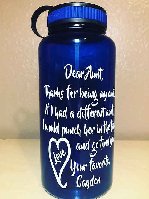 34 oz Titan Wide Mouth Water Bottle