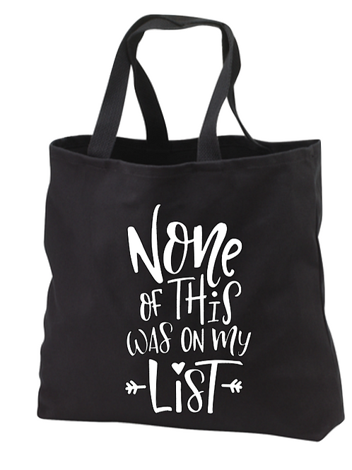 None of this was on my list Tote