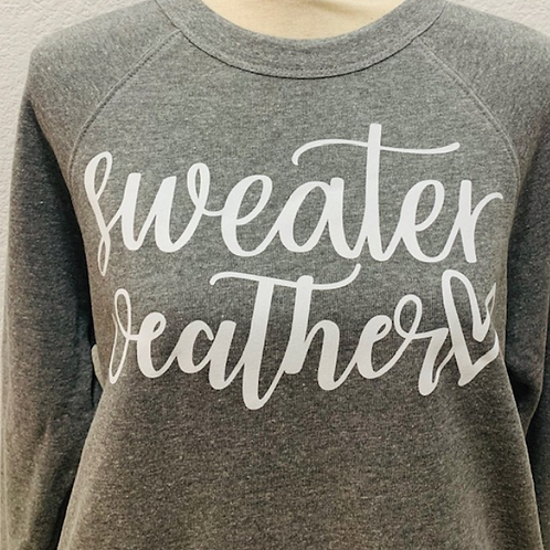 Sweater Weather with heart