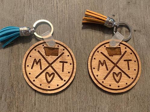 Montana Circle Keychain
