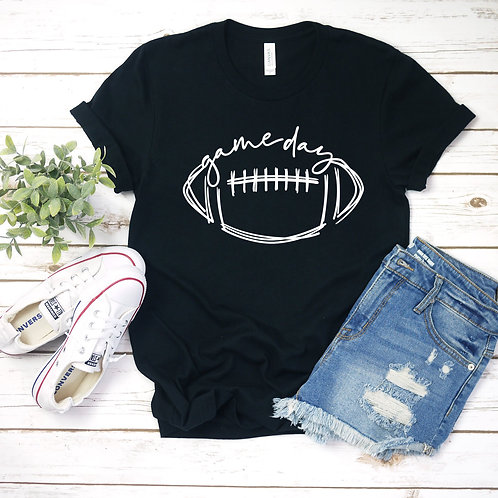 Game Day Football (white ink)