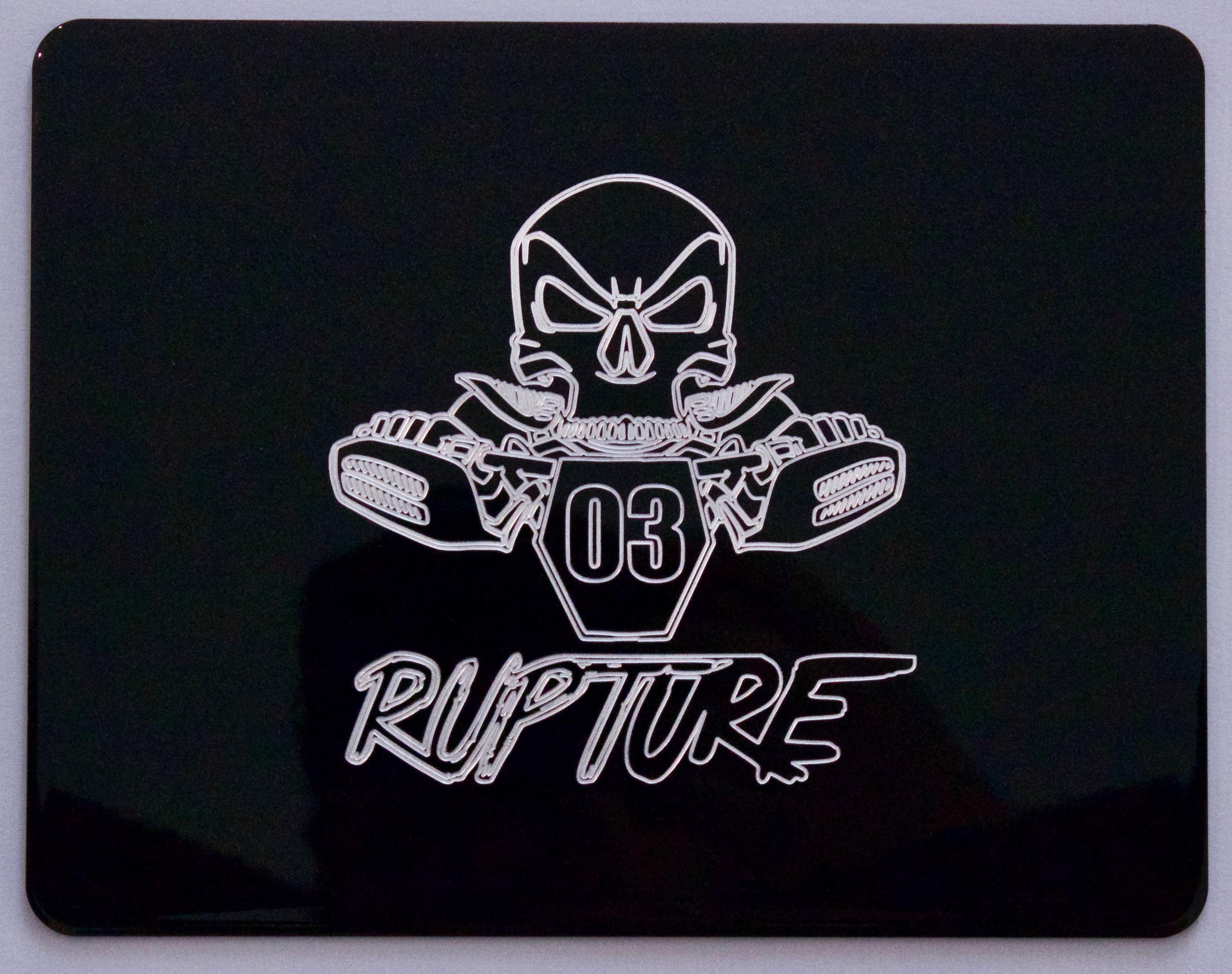 Gravage Custom Plaque moto