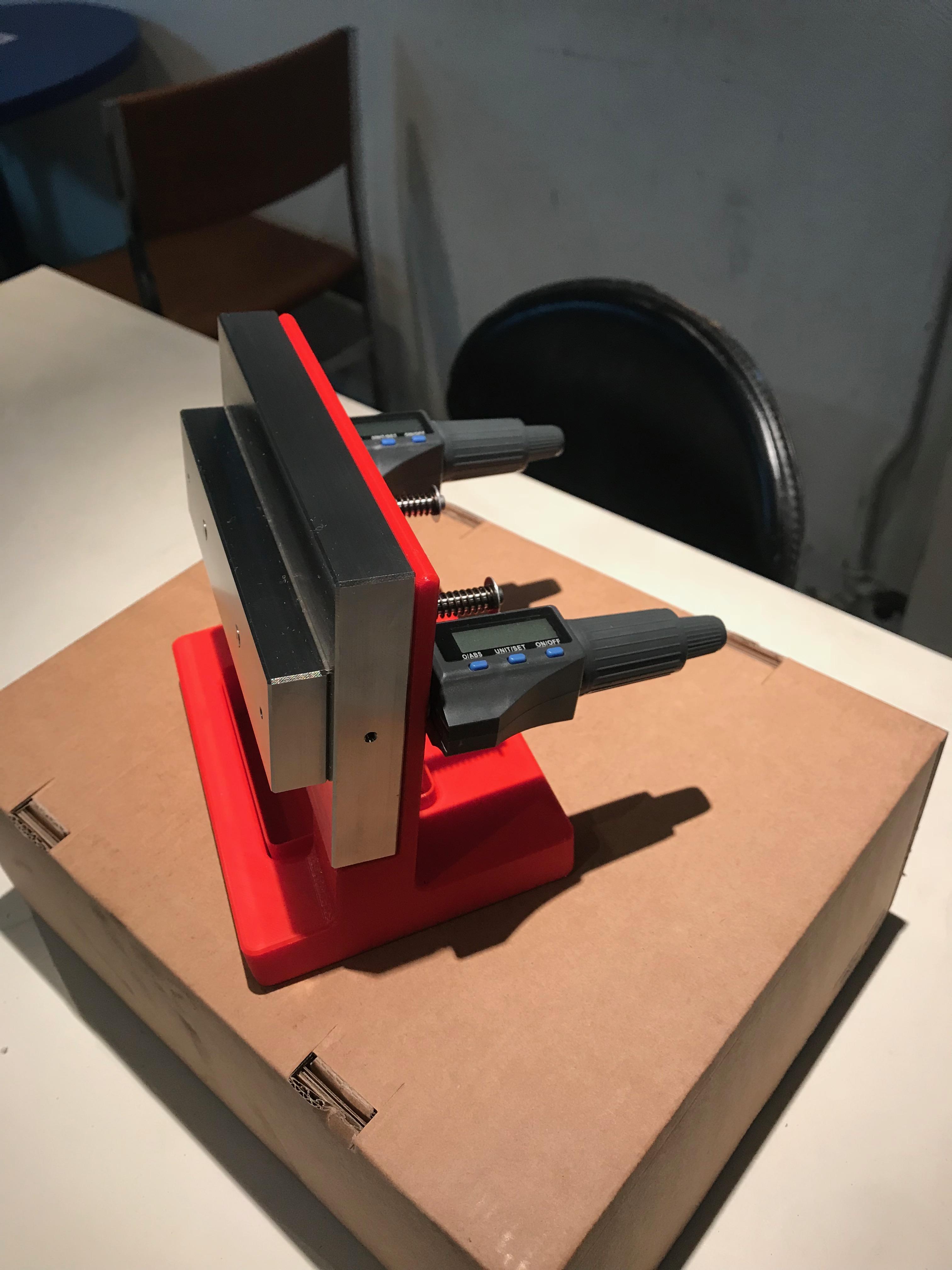 Support mesure type boite au lettre