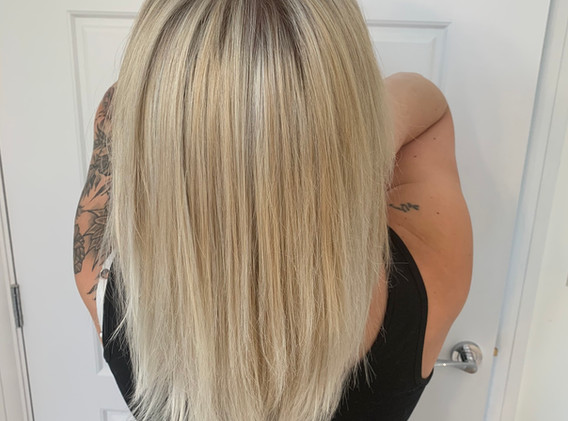 Full head highlights with toner