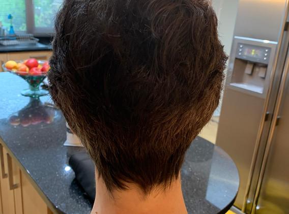 Restyle short hair