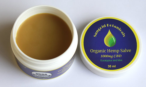 Organic Hemp Salve - Regular Strength - Cooling Eucalyptus