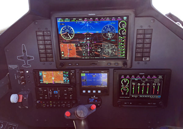 Garmin G3X wth digital engine instruments in an L-39 by Code 1 Aviation