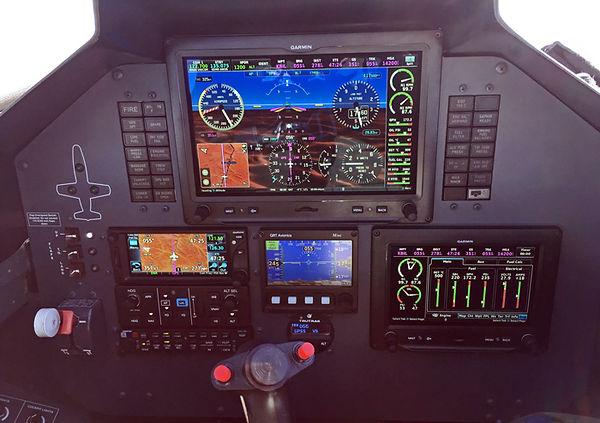 Garmin G3X wth digital engine instruments in an L-39 by Code 1 Aviation