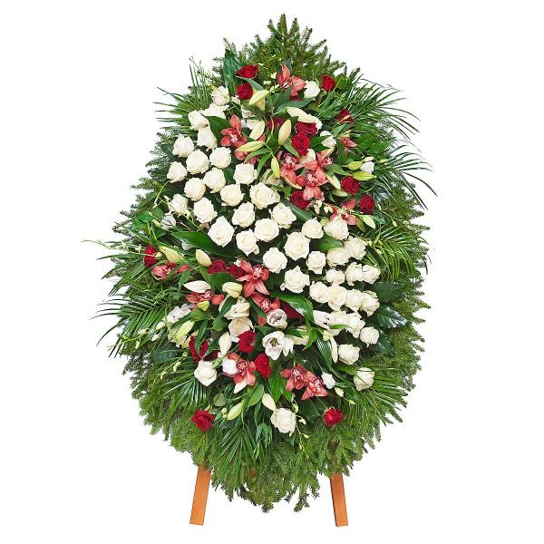 Венки из живых цветов