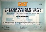 Certyfikat Psychoterapeuty EAGT