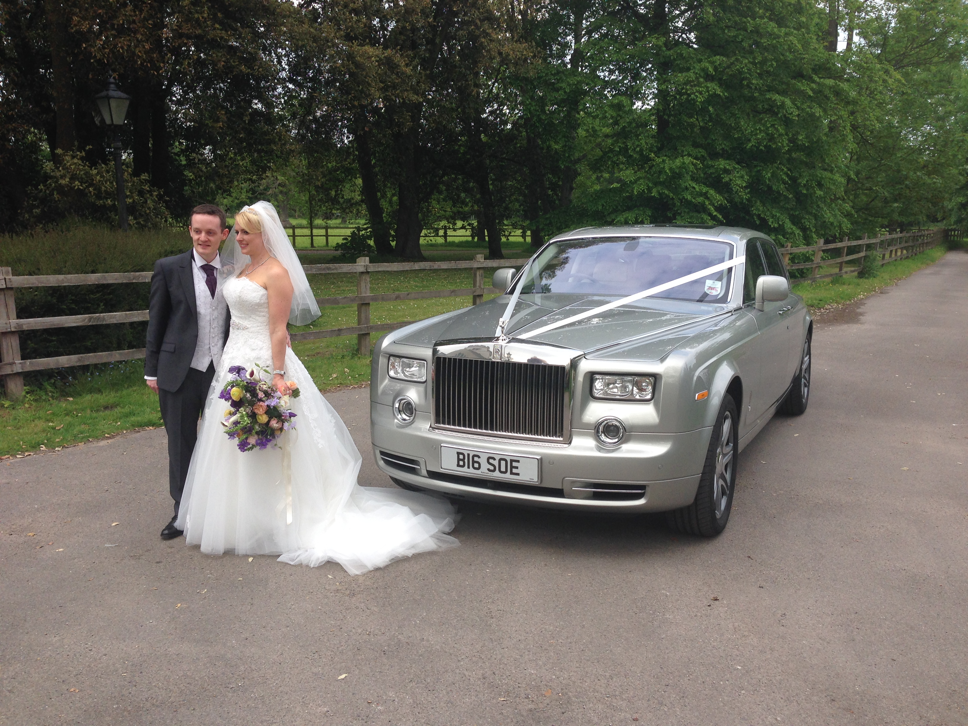 Wedding couple next to Phantom