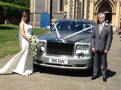 Wedding photo outside church