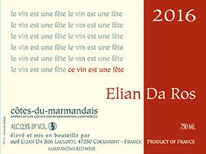 Côtes du marmandais Le vin est une fête 2017 75cl