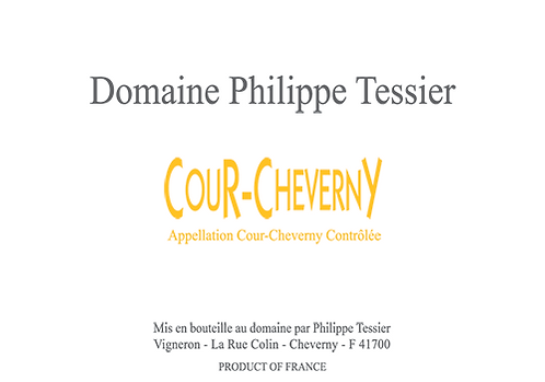 "Cour-Cheverny Philippe Tessier ""Domaine"" 2018 75cl"