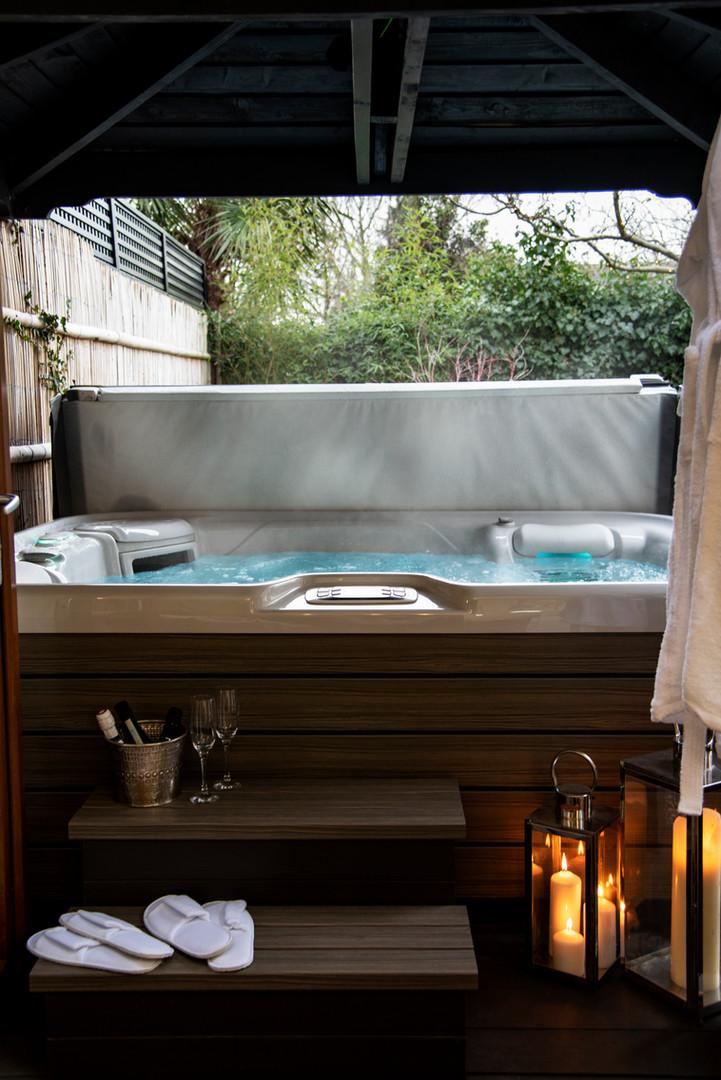Hot Tub and Zen Garden