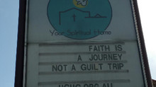 Faith is a Journey not a Guilt Trip
