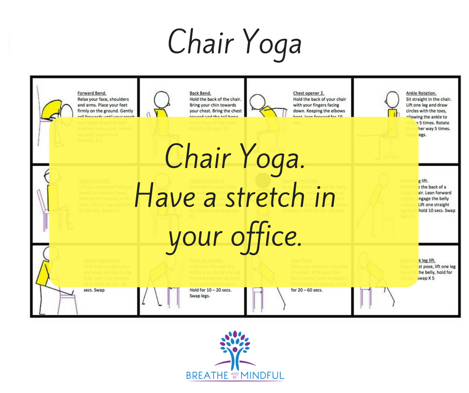 Chair yoga, office yoga