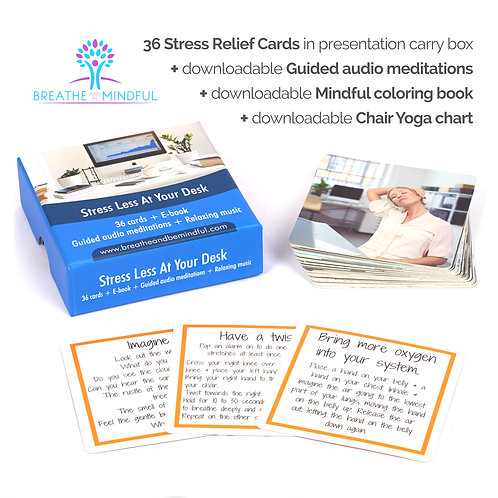 Stress Less at your Desk. For Adults & Teenagers