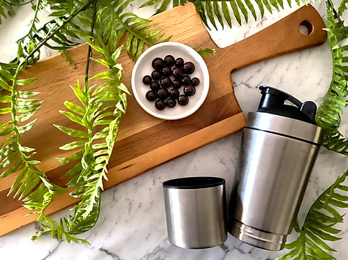 Just Add Snacks Stainless Steel Bottle + Snack Container