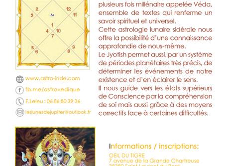 """CONFERENCE """"Initiation à l'astrologie Védique"""