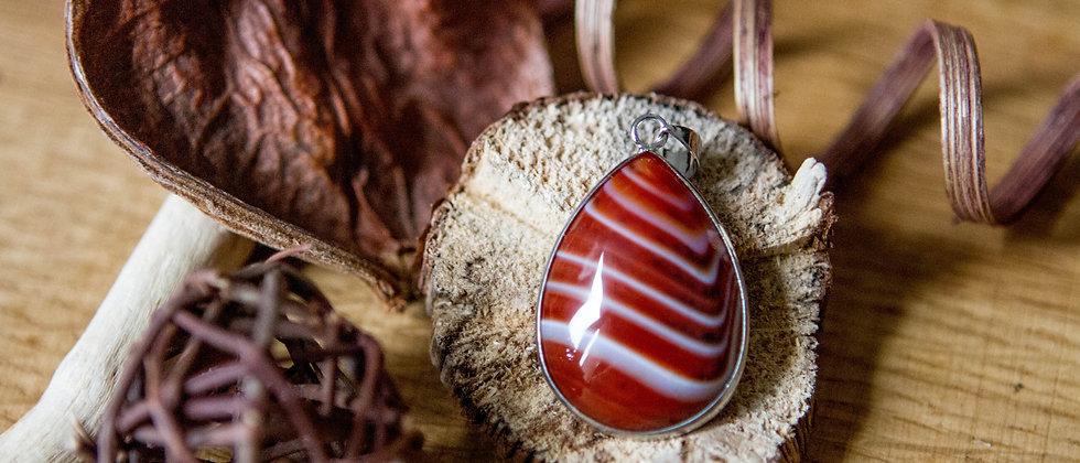 Agate rouge   Pendentif