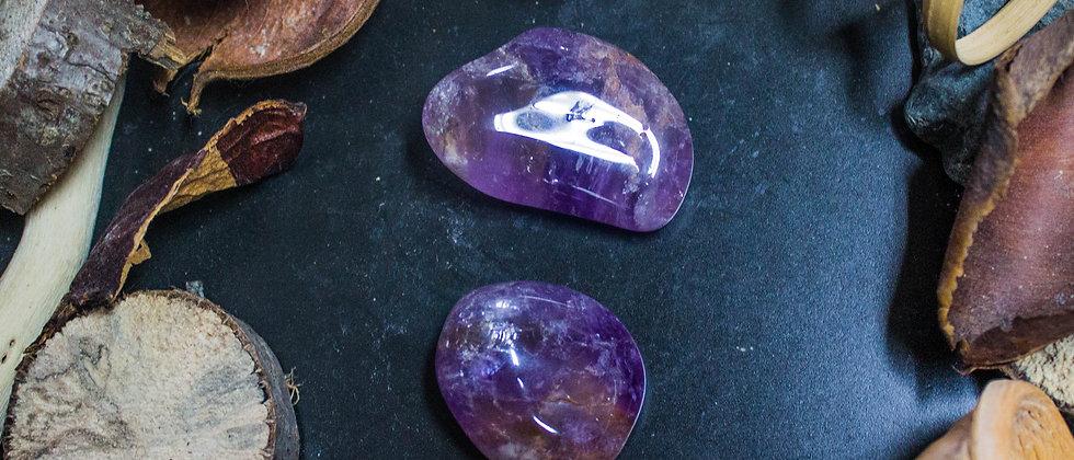 amétrine, pierre roulée, pierre semi précieuse, gemme, leanne ingouff, lithothérapie, saint laurent du pont, oeil du tigre