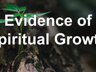 Evidence of Spiritual Growth